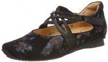 Think Chilli_282109, Ballerine con Cinturino alla Caviglia Donna, Nero (Sz/Kombi 09), 40 EU