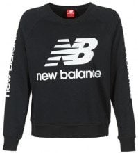 Felpa New Balance  GRAPHIC SWEATER BLACK