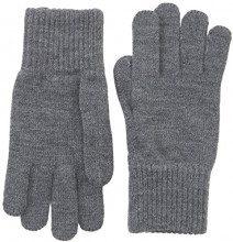 Wrangler Basic, Guanti Uomo, Grigio (Mid Grey Mel), M(UK)