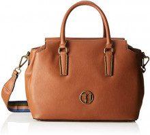 Trussardi Jeans 75B00427-9Y099999, Borsa a Secchiello Donna, Marrone (Leather), 32x21x14 cm (W x H x L)