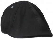 Kangol Wool 6 Panel Flexfit cap, Basco Scozzese Uomo, Nero Black, S/M