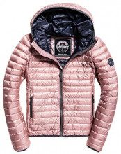 Superdry Core Down Hooded Jacket, Giacca Sportiva Donna, Rosa (Blush Pink Men), Medium (Taglia Produttore:12)