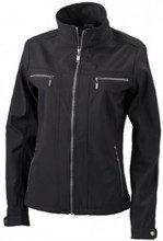 James & Nicholson - Softshelljacke Ladies' Tailored Jacket, Giacca Donna, Nero (black), X-Large (Taglia Produttore: X-Large)