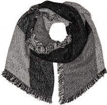 Levi's Assymetrical Fringe Wrap, Sciarpa Donna, Grigio (Noir Regular Grey 55), Unica (Taglia Produttore: Un)