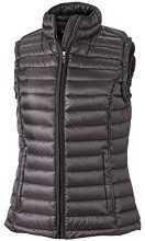 James & Nicholson - Daunenweste Ladies Quilted Down Vest, Giacca Donna, Rosso (Red/Black), X-Large (Taglia Produttore: X-Large)