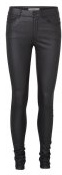 Vero Moda VMSEVEN SMOOTH COATED PANTS Pantaloni black