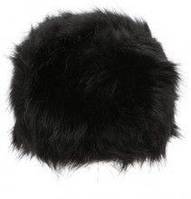 Colbacco da donna in pelliccia ecologica nero