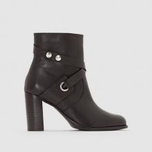 Boots pelle occhielli metallo