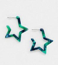 Orecchini con stella in resina smeraldo