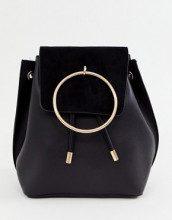 Zaino nero con anello