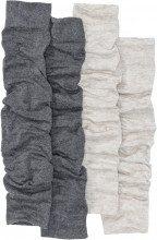 Scaldamuscoli lunghi in maglia rasata (pacco da 2 paia)