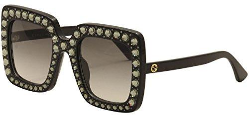 f3f00aaee8 Gucci GG0148S 001 Occhiali da sole Donna, Nero (Black/Grey) 53 | Bantoa