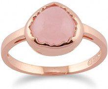 Ivy Gems Donna 925 argento Pera rosa Quarzo