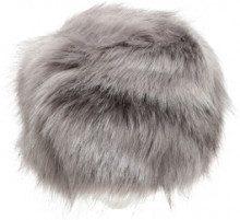 Colbacco da donna in pelliccia ecologica grigio