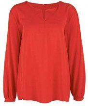 s.Oliver 14.901.11.2304, Camicia Donna, Rosso (Red 3123), 46 (Taglia Produttore: 40)