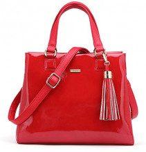 Tamaris Madina Handbag - Borsa Donna, Rosso (Chili Comb), 11.5x23x29 cm (W x H L)