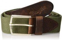 Wrangler Canvas Belt, Cintura Uomo, Verde (Army Green V7), No Aplica (Taglia Produttore: 115)