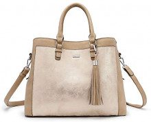Tamaris Elsa Business Bag - Borsa Donna, Beige (Pepper Comb), 15.5x26x38 cm (W x H L)