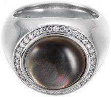 Esprit - ballroom black, Anello in argento 925 con zircone bianco da donna, 16