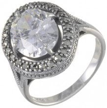 Esse Marcasite - 214R3140-07/AMN, Anello in argento sterling con marcasite 5977 carati, incolore, 14