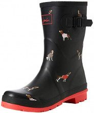 Stivali da pioggia Molly Welly di Joules Women, nero (Black Jumper Dogs Blkjdog), 38 EU