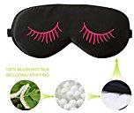 Fitglam pura seta Mascherina + Maschera riutilizzabile freddo / Terapia Hot SPA Gel Eye Set - migliorare il sonno, alleviare gonfio, gonfio occhi, affaticamento, cefalea e tensione