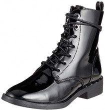 s.Oliver 5-5-25102-21 018, Stivali Combat Donna, Nero (Black Patent 18), 39 EU