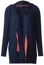 Street One 252638, Cardigan Donna, Blu (Evening Blue Melange 11196), 48