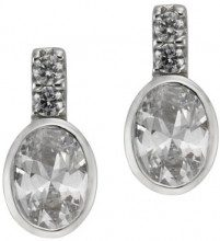 925 Sterling ZEEme dreambase-orecchini argento con zirconi bianchi 273220533