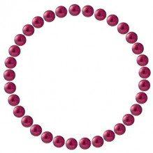 Pearls & Colors Donna rotonda rotonda Cinese d'acqua dolce coltivata Red perla