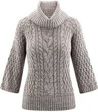 oodji Collection Donna Maglione con Lurex e Collo a Scialle, Grigio, IT 40 / EU 36 / XS