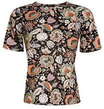 oodji Ultra Donna T-Shirt Dritta in Tessuto Strutturato, IT 42 / EU 38 / S