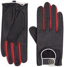 Tommy Hilfiger Biker Leather Gloves, Guanti Donna, Blu (Tommy Navy), Medium (Taglia Produttore: M-L)