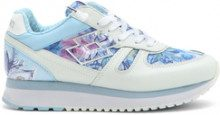Sneakers da donna Tokyo Wedge a fantasia celeste e bianco