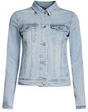 oodji Ultra Donna Giacca in Jeans con Tasche, Blu, IT 40 / EU 36 / XS
