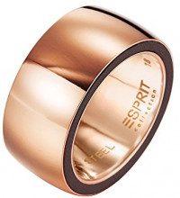 ESPRIT Collection idya-anello in acciaio inox rodiato Persefone Brown GR, 54 (17,2) S, ELRG12117A170