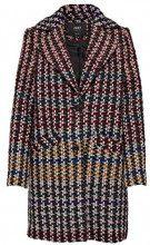 Only Onlmelrose Check Wool Coat Otw, Giubbotto Donna, (Sun-Dried Tomato Checks, 42 (Taglia Produttore: Small)
