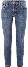 oodji Ultra Donna Jeans Skinny con Zip in Fondo, Blu, 28W / 32L (IT 44 / EU 40 / M)