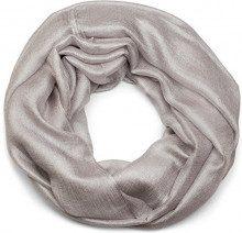 styleBREAKER sciarpa scaldacollo leggera e setosa a tinta unita, sciarpa ad anello, foulard, unisex 01017063, colore:Grigio chiaro