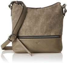 Tom Tailor 24016, Borsa a tracolla Donna, Beige (Beige (taupe 21)), 5.5x24x25.5 cm (B x H x T)