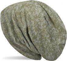 styleBREAKER Cuffia Beanie con Motivo Batik, Cuffia Beanie Lunga, Unisex 04024150, Colore:Oliva