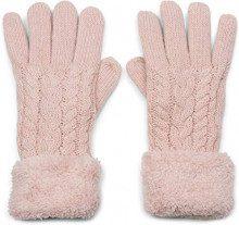 styleBREAKER Guanti caldi con motivo a treccia e pile, guanti invernali in maglia, unisex 09010019, colore:Rosa antico