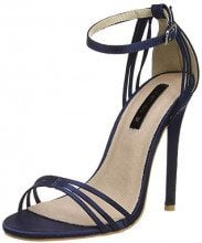 Lost Ink Faye Barely There (Wide Fit), Scarpe col Tacco Punta Aperta Donna, Blue (Navy 0041), 38 EU
