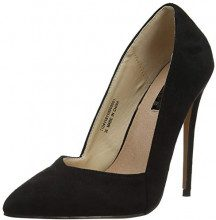 Lost Ink Alexa Low Cut Court (Wide Fit), Scarpe col Tacco Punta Chiusa Donna, (Black 0001), 37 EU