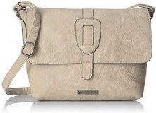 Tamaris Patty Crossbody Bag L - Borse a tracolla Donna, Grau (Light Grey), 22x13x25.5 cm (B x H T)