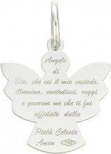 Ciondolo angelo in oro bianco per Unisex