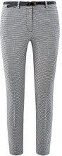 oodji Collection Donna Pantaloni in Jacquard con Cintura, Grigio, IT 46 / EU 42 / L