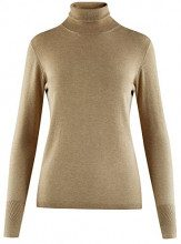 oodji Collection Donna Maglione Basic, Beige, IT 40 / EU 36 / XS