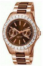 ESPRIT es105772005–Orologio con cinturino in acciaio inox per donna, colore: marrone/grigio