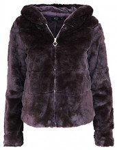 Only Onlchris Fur Hooded Jacket CC Otw, Giacca Donna, Marrone Black Coffee, 46 (Taglia Produttore: Large)